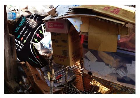 不用品回収の作業写真